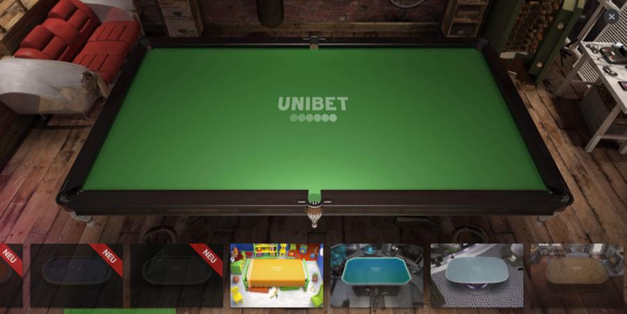 Unibet Poker Tischdesign